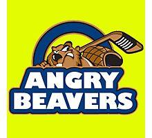 Angry Beaver Hockey Photographic Print