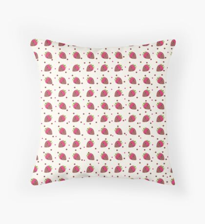 AFE Chocolate Strawberries Pattern Throw Pillow