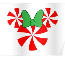 Peppermint Minnie Mouse Design Poster