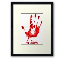 We Know - Dark Brotherhood - Watercolor Framed Print