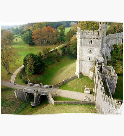 Arundel Castle Gateway & Moat Poster