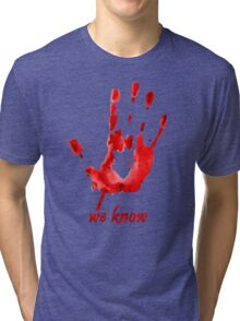 We Know - Dark Brotherhood - Watercolor Tri-blend T-Shirt