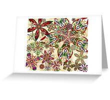 Christmas Kaleidoscope Floral 2 Greeting Card