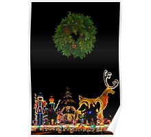 WREATH AND RUDOLPH Poster