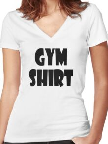 gym shirt Women's Fitted V-Neck T-Shirt