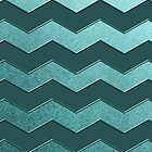 Teal Chevron Zig Zag Pattern by thepixelgarden