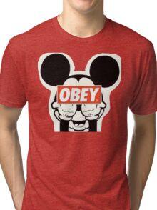 mickey mouse obey logo Tri-blend T-Shirt