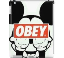 mickey mouse obey logo iPad Case/Skin