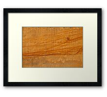 Surface of a yellow sandstone with iron oxide structures. Framed Print