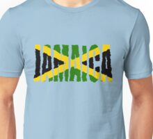Jamaica Font With Jamaican Flag Unisex T-Shirt