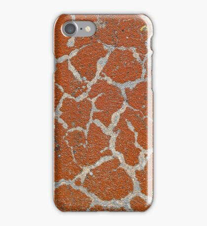 Old russet color on concrete iPhone Case/Skin