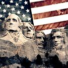 Patriotic Mount Rushmore by morningdance