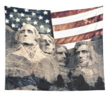 Patriotic Mount Rushmore Wall Tapestry