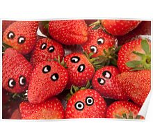 Strawberry fun. Poster