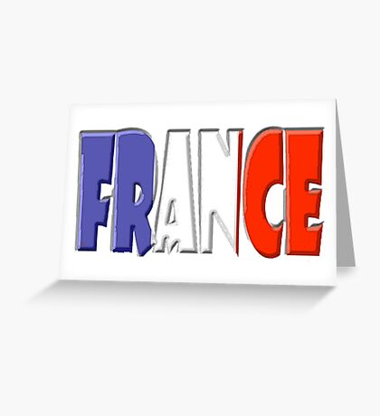 France Font With French Flag Greeting Card