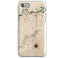 Vintage Map of New England iPhone Case/Skin