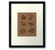 The Ice Age Six Framed Print