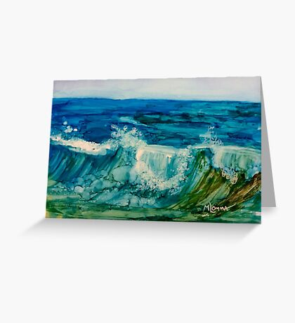 Waves 2 Greeting Card