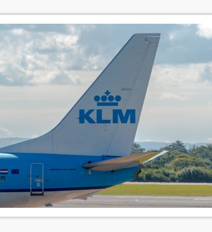 KLM Royal Dutch Airlines Boeing 737 tail livery  Sticker