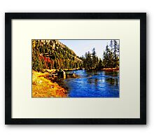 Yellowstone National Park - End Of Season Framed Print