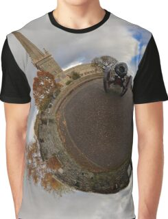 St Columb's Cathedral from Derry's Walls at Church Bastion, Derry Graphic T-Shirt