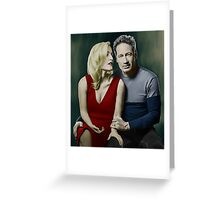 Gillian Anderson and David Duchovny Greeting Card