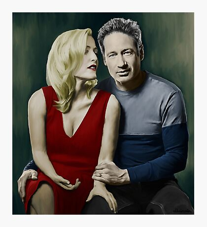 Gillian Anderson and David Duchovny Photographic Print