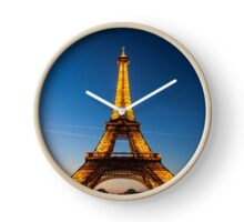 Eiffel Tower and sunset Clock