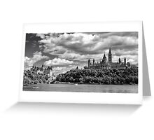 Parliament Hill Across The River Greeting Card