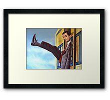 Mister Bean Painting Framed Print