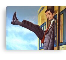 Mister Bean Painting Canvas Print