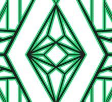 Abstract Triangle Art Pattern Sticker
