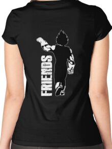 Couple Best Friends Vegeta Women's Fitted Scoop T-Shirt