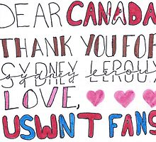 Thank You, Canada by sketch-uswnt