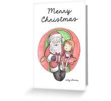 Santa Photo Greeting Card