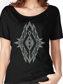 Abstract Triangle Art Pattern Women's Relaxed Fit T-Shirt