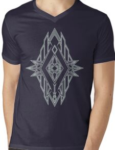 Abstract Triangle Art Pattern Mens V-Neck T-Shirt