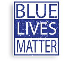 Blue Lives Matter Movement Police, Cops Respect Canvas Print