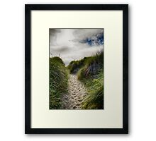 Dune Trail Framed Print