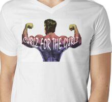 CURLZ FOR THE GURLZ Mens V-Neck T-Shirt