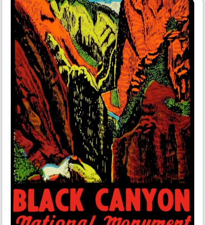 Black Canyon Vintage Travel Decal Sticker