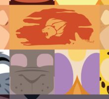 Lion Guard and Outlanders Minimalist Icons Sticker