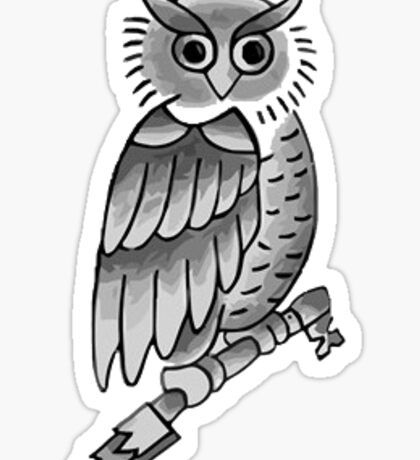 Justin Bieber Owl Tattoo Sticker