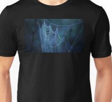 Dew Covered Spider Web Macro Unisex T-Shirt