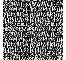 Hand Lettering Alphabet Photographic Print