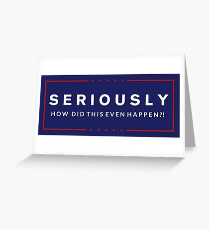 Presidential Protest Greeting Card