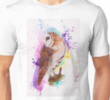 Owl Coloursplash Unisex T-Shirt