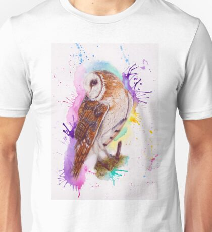 Owl Coloursplash Unisex T-Shirt