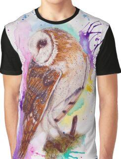Owl Coloursplash Graphic T-Shirt