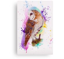Owl Coloursplash Canvas Print